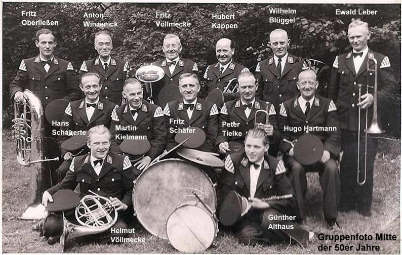 Gruppenfoto der 50er Jahre