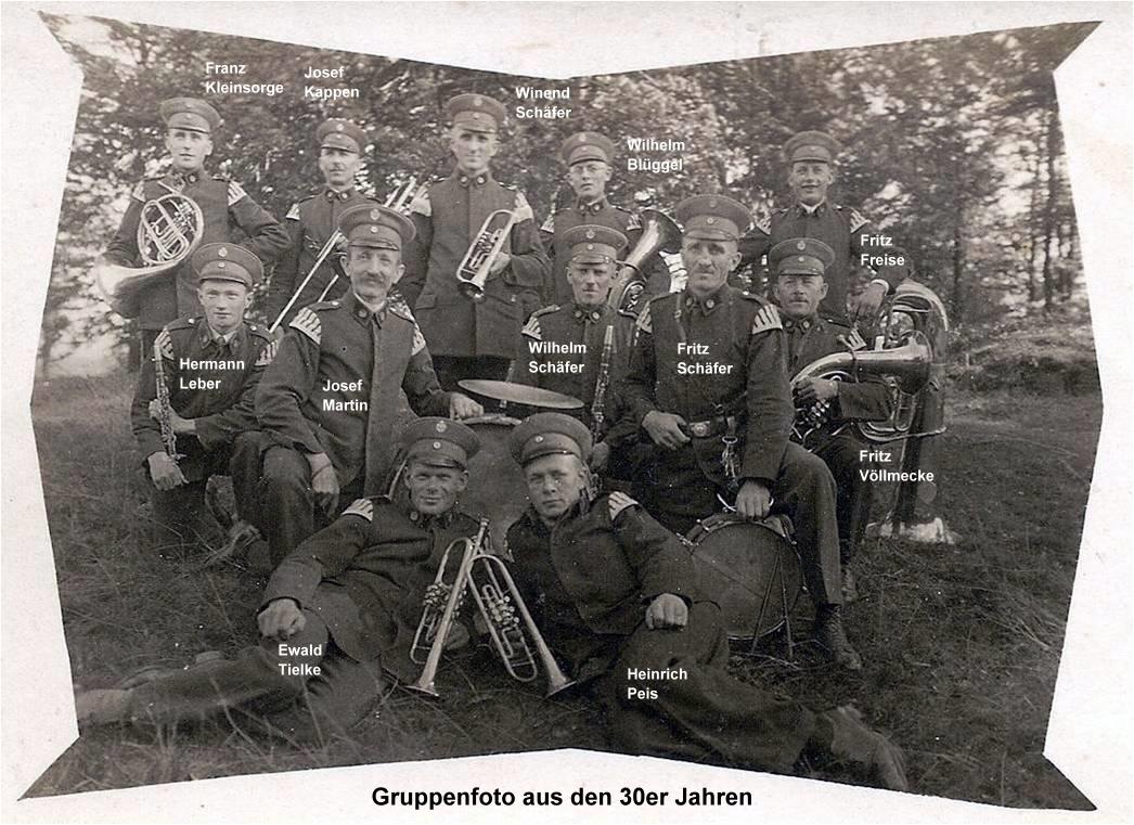 Gruppenfoto aus den 30er Jahren